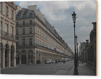 Wood Print featuring the photograph Le Meurice Hotel, Paris by Christopher Kirby
