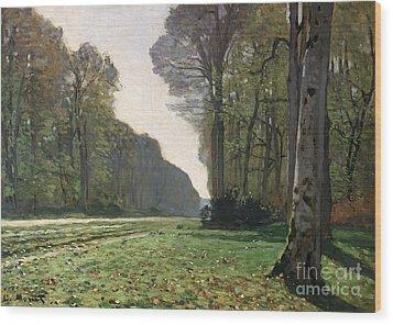 Le Pave De Chailly Wood Print by Claude Monet