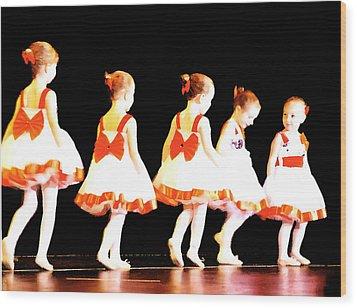 Le Petite Ballet Wood Print by Margie Avellino