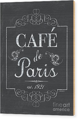 Wood Print featuring the painting Le Petite Bistro 3 by Debbie DeWitt
