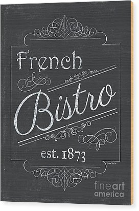 Wood Print featuring the painting Le Petite Bistro 4 by Debbie DeWitt