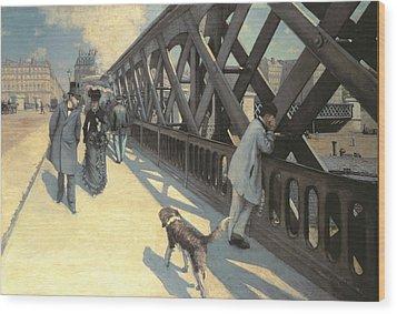 Le Pont De L'europe Wood Print by Gustave Caillebotte