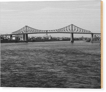 Le Pont Jacques Cartier Wood Print