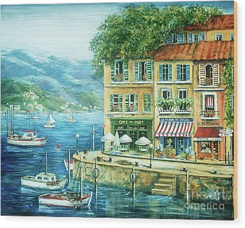 Le Port Wood Print by Marilyn Dunlap