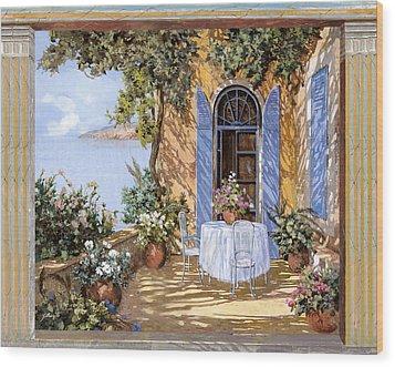 Le Porte Blu Wood Print by Guido Borelli