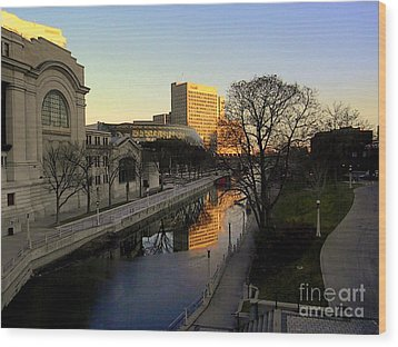 Wood Print featuring the photograph Le Rideau, by Elfriede Fulda