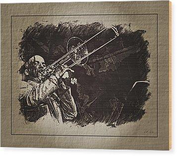 Le Roi Du Trombone  Wood Print