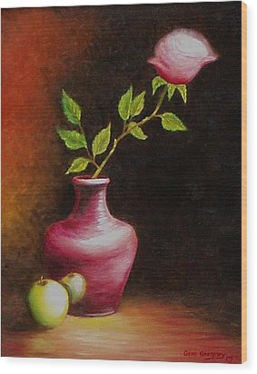 Wood Print featuring the painting Le Rose by Gene Gregory