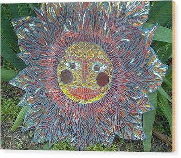 Le Soleil Wood Print by Kimberly Barrow