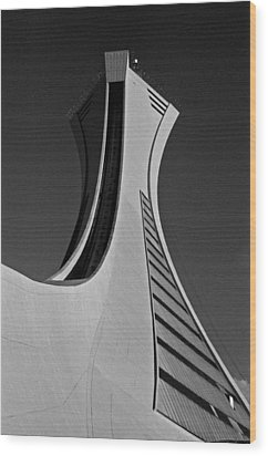 Le Stade Olympique De Montreal Wood Print by Juergen Weiss