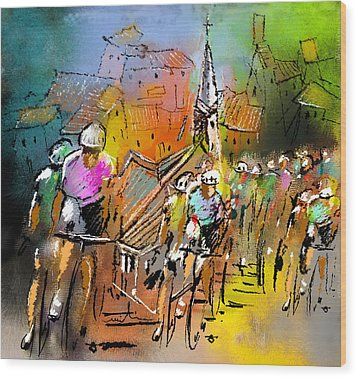 Le Tour De France 04 Wood Print by Miki De Goodaboom