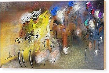 Le Tour De France 05 Wood Print by Miki De Goodaboom