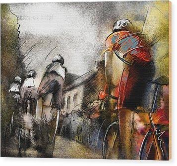 Le Tour De France 06 Wood Print by Miki De Goodaboom