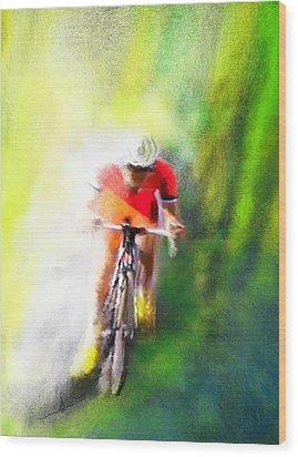Le Tour De France 12 Wood Print by Miki De Goodaboom