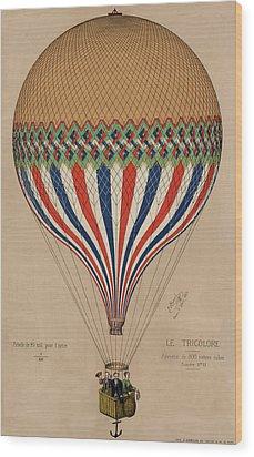 Le Tricolore Wood Print