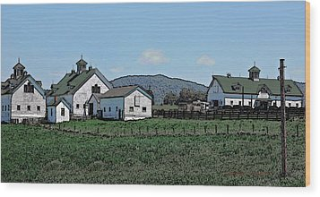 Lea Homestead Wood Print by DigiArt Diaries by Vicky B Fuller