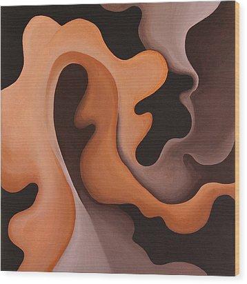 Leaf Wood Print by Bonnie Kelso