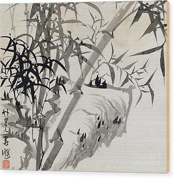 Leaf C Wood Print by Rang Tian