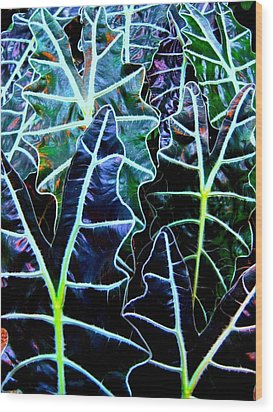 Leaf Patterns Wood Print by Shirley Sirois