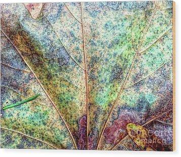 Leaf Terrain Wood Print