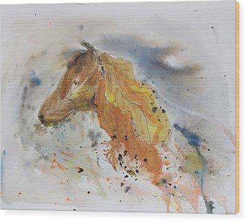 Leafy Horse Wood Print