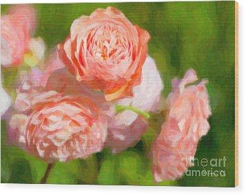 Leander English Rose Wood Print