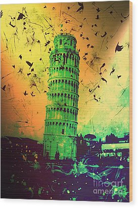 Leaning Tower Of Pisa 32 Wood Print