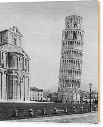 Leaning Tower Of Pisa Italy - C 1902  Wood Print by International  Images