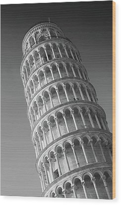 Leaning Tower Of Pisa Wood Print by Richard Goodrich
