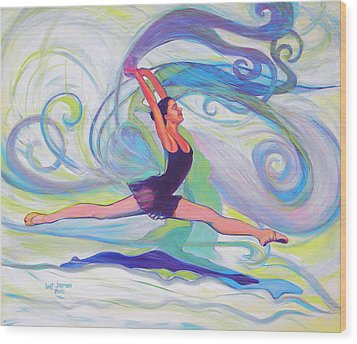 Leap Of Joy Wood Print by Jeanette Jarmon