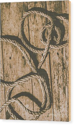 Wood Print featuring the photograph Learning The Ropes by Jorgo Photography - Wall Art Gallery