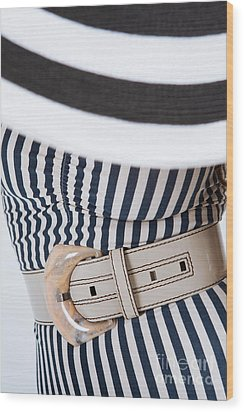 Wood Print featuring the photograph Leather Belt With A Buckle  by Andrey  Godyaykin