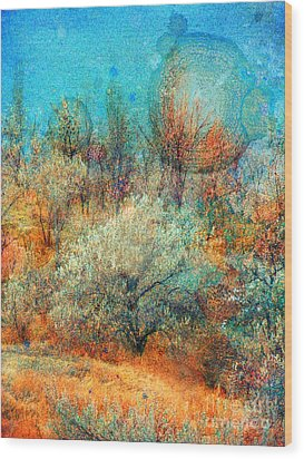 Leave It To The Trees To Dance In The Cold Wood Print by Tara Turner