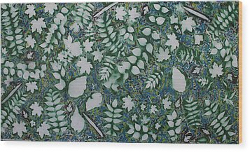 Leaves And Knives Wood Print by Biagio Civale