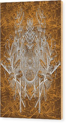 Leaves And Twine Wood Print by Evelyn Patrick