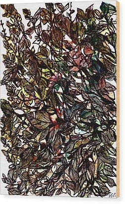 Leaves Hidden Everywhere Wood Print by Garima Srivastava