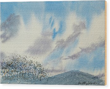 The Blue Hills Of Summer Wood Print