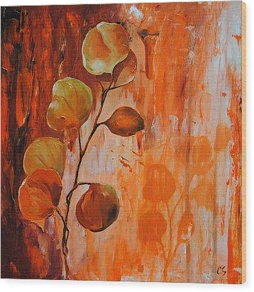 Leaves1 Wood Print by Chris Steinken
