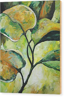Leaves2 Wood Print by Chris Steinken