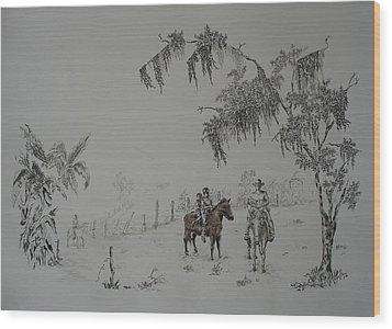 Leaving Home Wood Print by Gloria Reyes Diaz