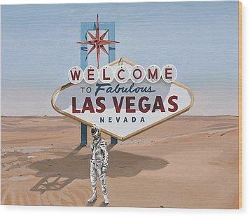Leaving Las Vegas Wood Print by Scott Listfield
