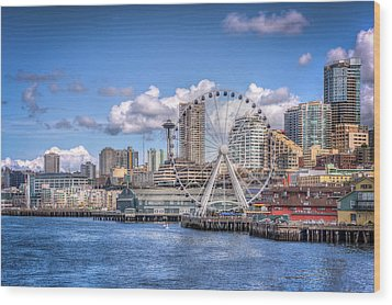 Leaving Seattle Wood Print by Spencer McDonald