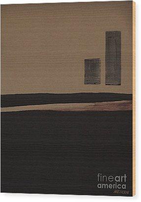 Leaving The City Wood Print by Marsha Heiken