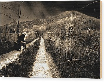 Wood Print featuring the photograph Leaving This Town by Gray  Artus