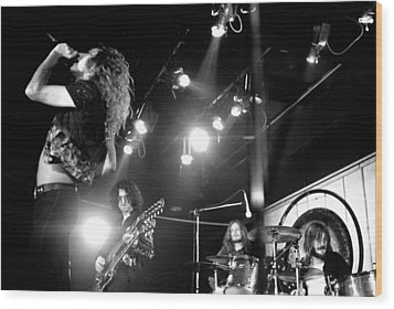 Led Zeppelin 1972 Wood Print by Chris Walter