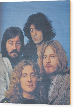 Led Zeppelin Wood Print by Donna Wilson