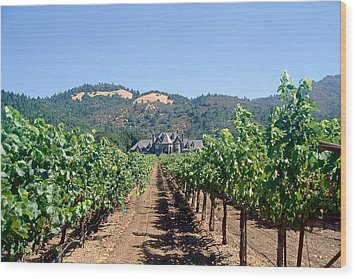 Ledson Winery And Vineyard Sonoma County California Wood Print by George Oze