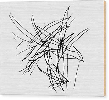 Lee Krasner Series 5 Wood Print by Dick Sauer