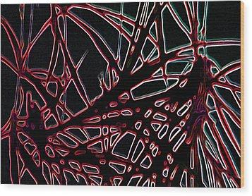 Wood Print featuring the digital art Lee Krasner Spider Plant Digital Detail 2 by Dick Sauer
