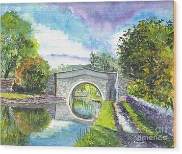 Leeds Canal Liverpool Wood Print by Carol Wisniewski